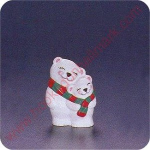1994 Polar Snuggle Bears - Merry Miniature
