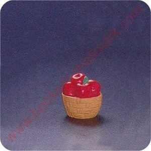 1994 Basket of Apples - Merry Miniature