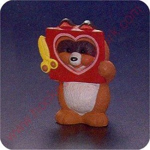 1993 Raccoon  with Cutout Heart - Merry Miniature