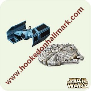2005 Tie Advanced and Falcon - Miniature