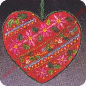 1983 Embroidered Heart- SDB