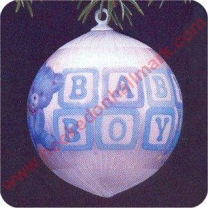 1987 Babys First Christmas, Boy -NB