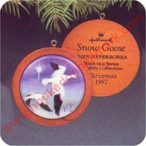 1987 Holiday Wildlife #6 - Snow Goose - SDB