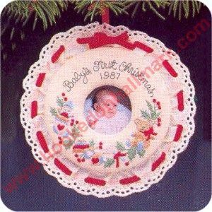 1987 Babys First Christmas, Photoholder - DB  EXTREMELY RARE