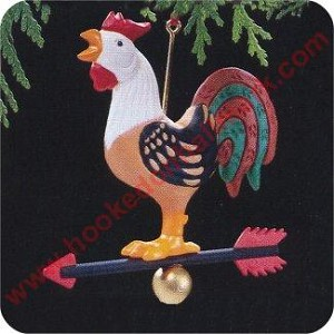 1989 Rooster Weathervane