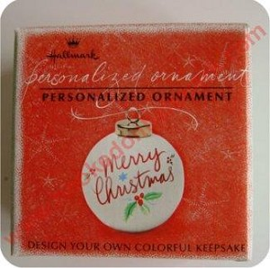 1992 Personalizable Ornament, Design Your Own