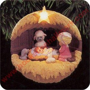 1994 Away in a Manger - Lighted - MIB