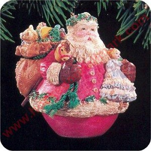 1994 Jolly Holly Santa w/stand
