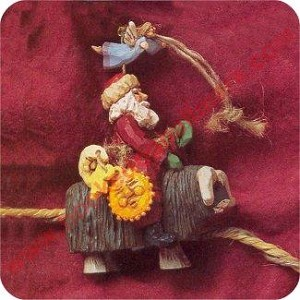 1995 Folk Art, Guiding Santa