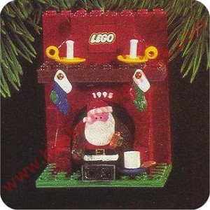 1995 Lego Fireplace with Santa