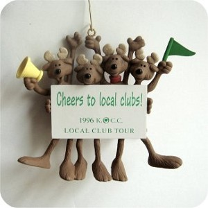"1996 Reindeer Rooters - Rare Event Gift - ""Cheers to Local Clubs!"""