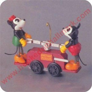 1998 Mickey and Minnie Handcar