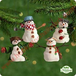 2001 Mitford Snowman Jubilee - set of 4