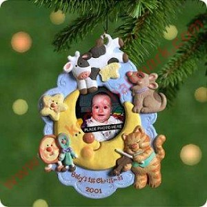 2001 Babys First Christmas Photo Holder - DB