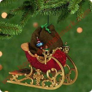2001 Santas Sleigh w/ Mini Ornament