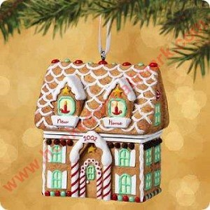 2002 New Home - Gingerbread House - Hinged