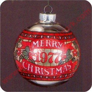 1977 Stained Glass Ball ornament