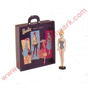 1999 Barbie Travel Case & Barbie - Miniature
