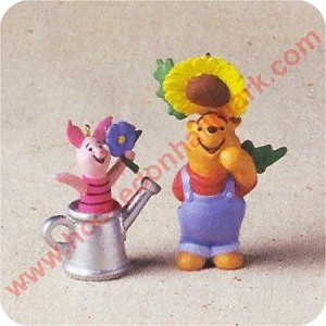 1998 Garden of Piglet and Pooh - set of 2