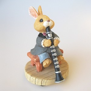 Bunny Clarinet - Tender Touches Figurine - DB
