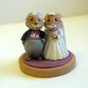 Bride and Groom - Mini Memories Figurine - Rare