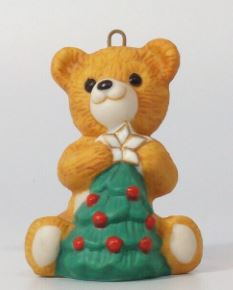 1990 Porcelain Bear #8 - Topping the Tree
