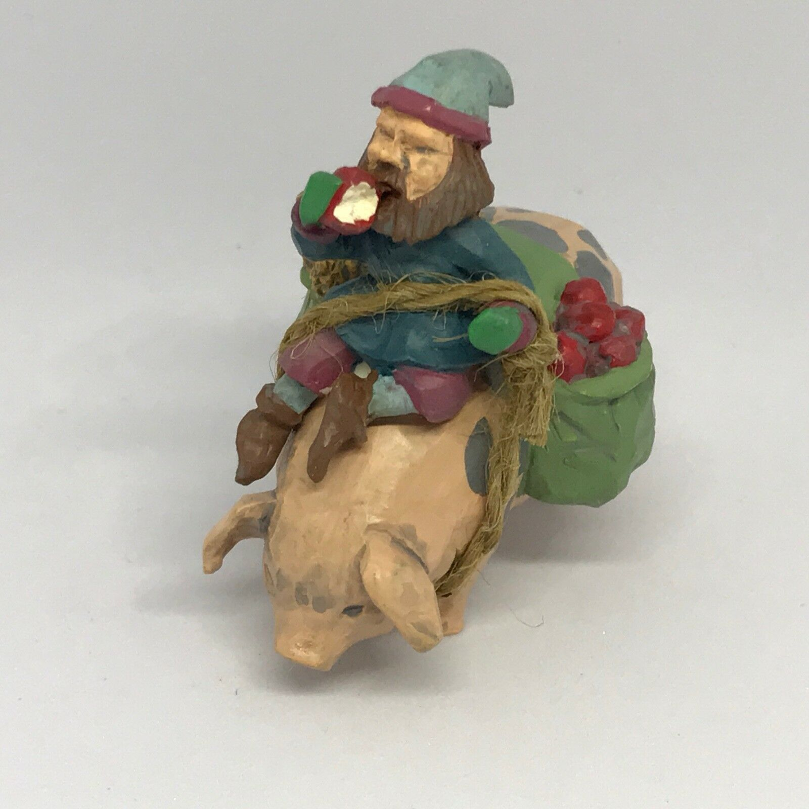 1994 Folk Art, Going to Town - Elf riding on Pig