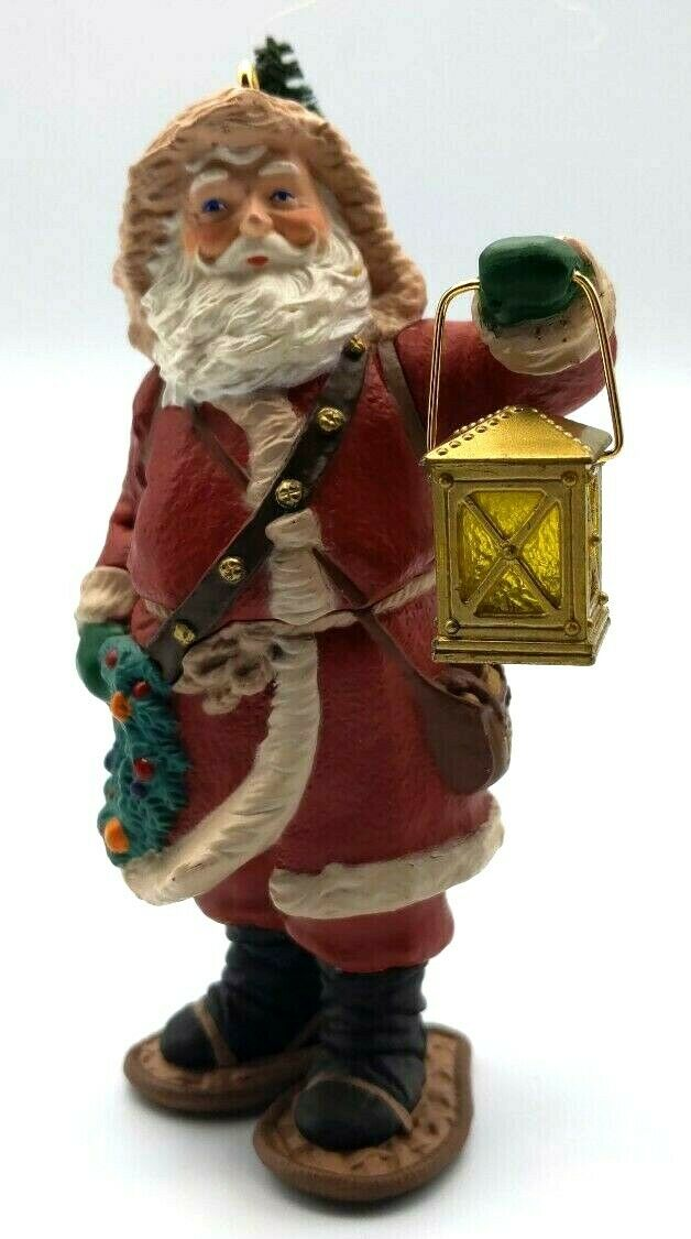 1994 Merry Olde Santa #5 - Santa with Lantern & Snowshoes