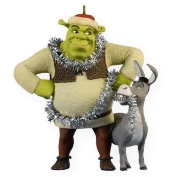 2009 Christmas Chaos, Shrek the Halls 2009 Hallmark Keepsake Ornament  (Scroll down for additional details) - 2009 Hallmark Keepsake Ornament, Christmas Chaos Shrek And Donkey