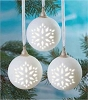 2011 Wonder and Light, Pierced Ball Ornament Set of 3 - Hard to find!