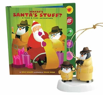 2011 Where's Santa's Stuff? - INTERACTIVE Book/Ornament