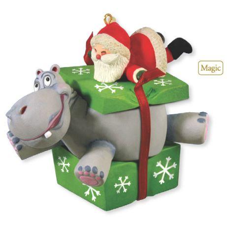 I Want Hippopotamus For Christmas.2012 I Want A Hippopotamus For Christmas Hallmark Magic Ornament Hallmark Keepsake Ornaments At Hooked On Hallmark Ornaments
