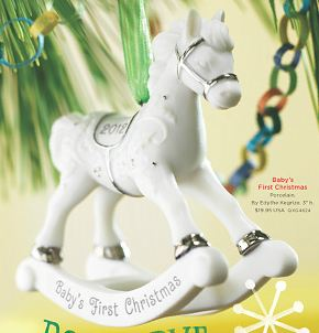 2012 Baby's First Christmas, Porcelain Rocking Horse