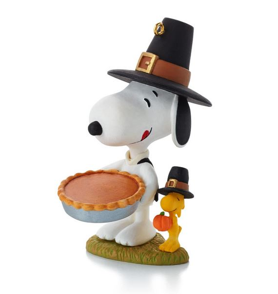 Snoopy Christmas Tree Topper: 2013 Peanuts Monthly Giving Thanks Hallmark Ornament
