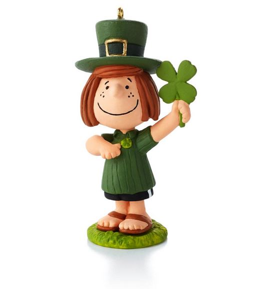 Snoopy Christmas Tree Topper: 2013 Peanuts Monthly St Patty's Day Hallmark Ornament
