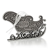 2013 Santa's Sleigh - Elegantly Engraved Metal