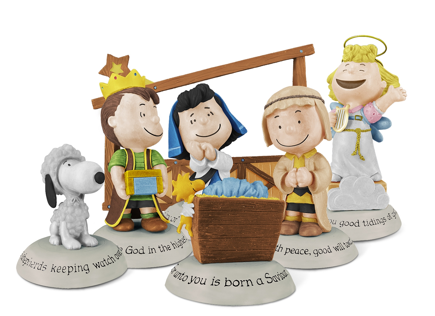 2014-18 Peanuts Nativity Collection - 7 figurines