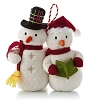 2013 Caroling Snowmen Plush ORNAMENT - Hard to Find !