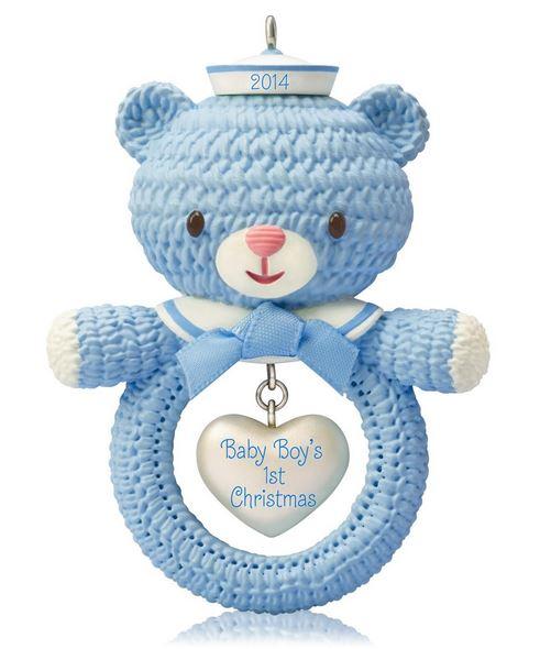 2014 baby boys first christmas hallmark ornament hooked on hallmark ornaments - Baby Boy First Christmas Ornament