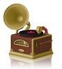 2014 Santa's Merry Phonograph - Light & 3 songs!