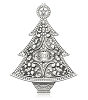 2014 Perfect Tree - Elegantly Engraved Metal