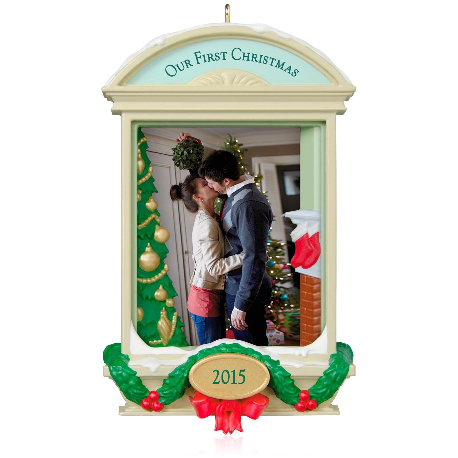 2015 Our First Christmas Together Hallmark Keepsake Ornament - Hooked on Hallmark Ornaments