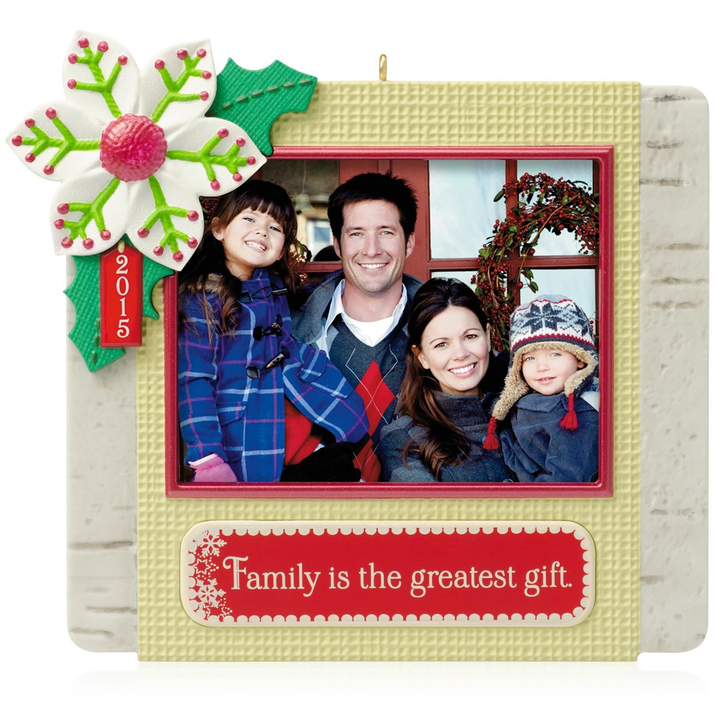 2015 our family photo holder hallmark keepsake ornament
