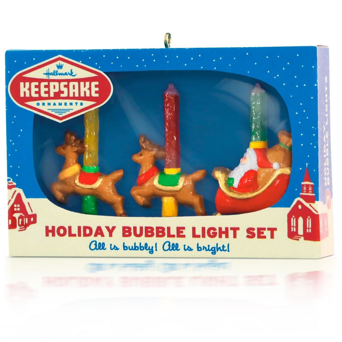 2015 Bubble Lights Hallmark Keepsake Ornament Hooked On