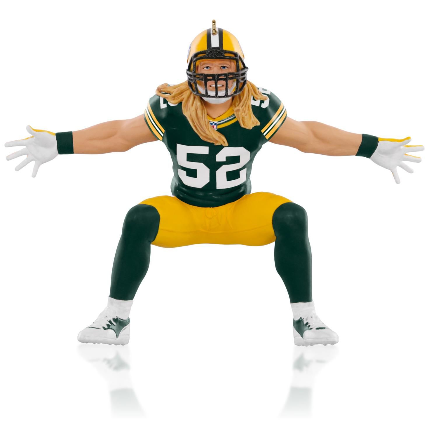 2015 football legends clay matthews green bay packers hallmark keepsake ornament hooked on hallmark ornaments - Green Bay Packers Christmas Ornaments