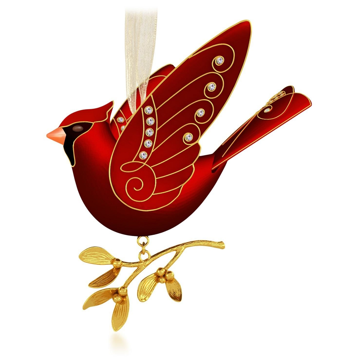 2015 ruby red cardinal hallmark keepsake ornament hooked on hallmark ornaments - Red Cardinal Christmas Decorations