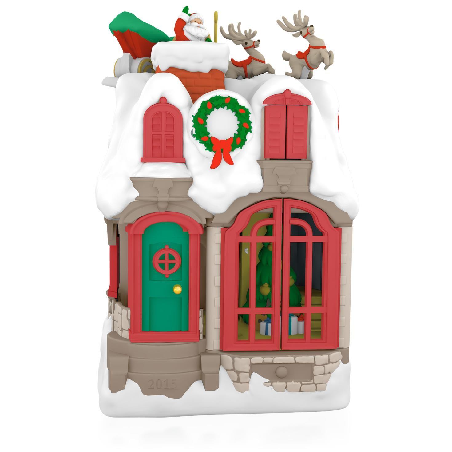 2015 Up On The Housetop Hallmark Keepsake Ornament
