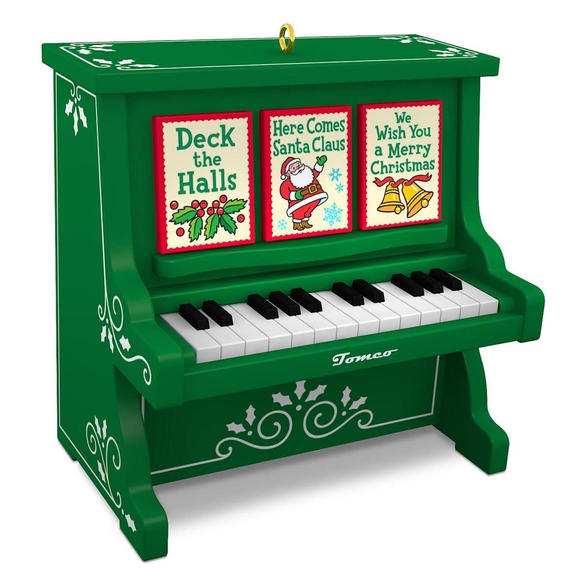 Caroling Piano 2016 Hallmark Ornament Musical Music Song Light Merry Christmas