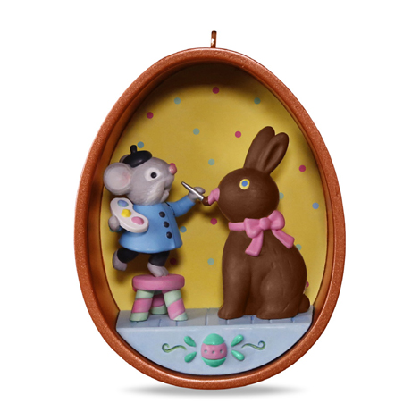 Happy Easter Cookie Cutter Mouse 2017 Hallmark Ornament #3  Egg  Chocolate Bunny