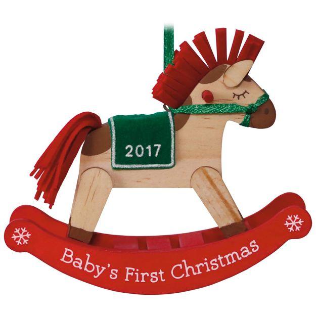 2017 baby u0026 39 s first christmas hallmark keepsake ornament